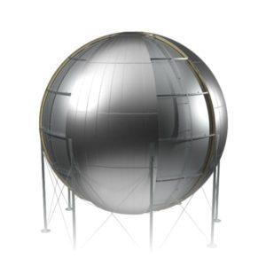 окожушивание сферических емкостей