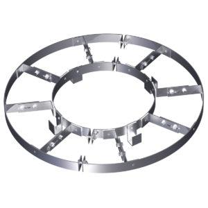 Разгружающее устройство с лапками и навесными скобами для изоляции