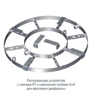 Разгружающее устройство с лапками и навесными скобами