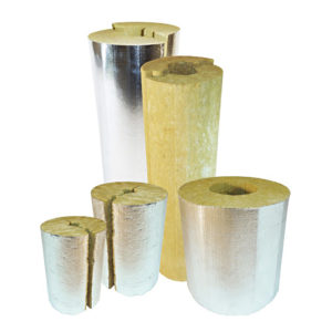 цилиндры минераловатные кашированные фольгой