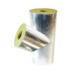 теплоизоляционные тройники кашированные алюминиевой фольгой