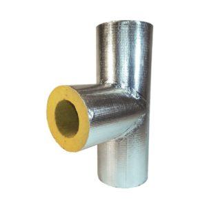 минераловатные тройники кашированные алюминиевой фольгой