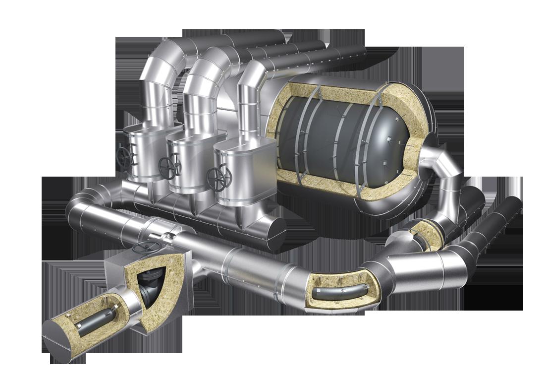 Быстросъемные конструкции теплоизоляции для трубопровода и аппаратов