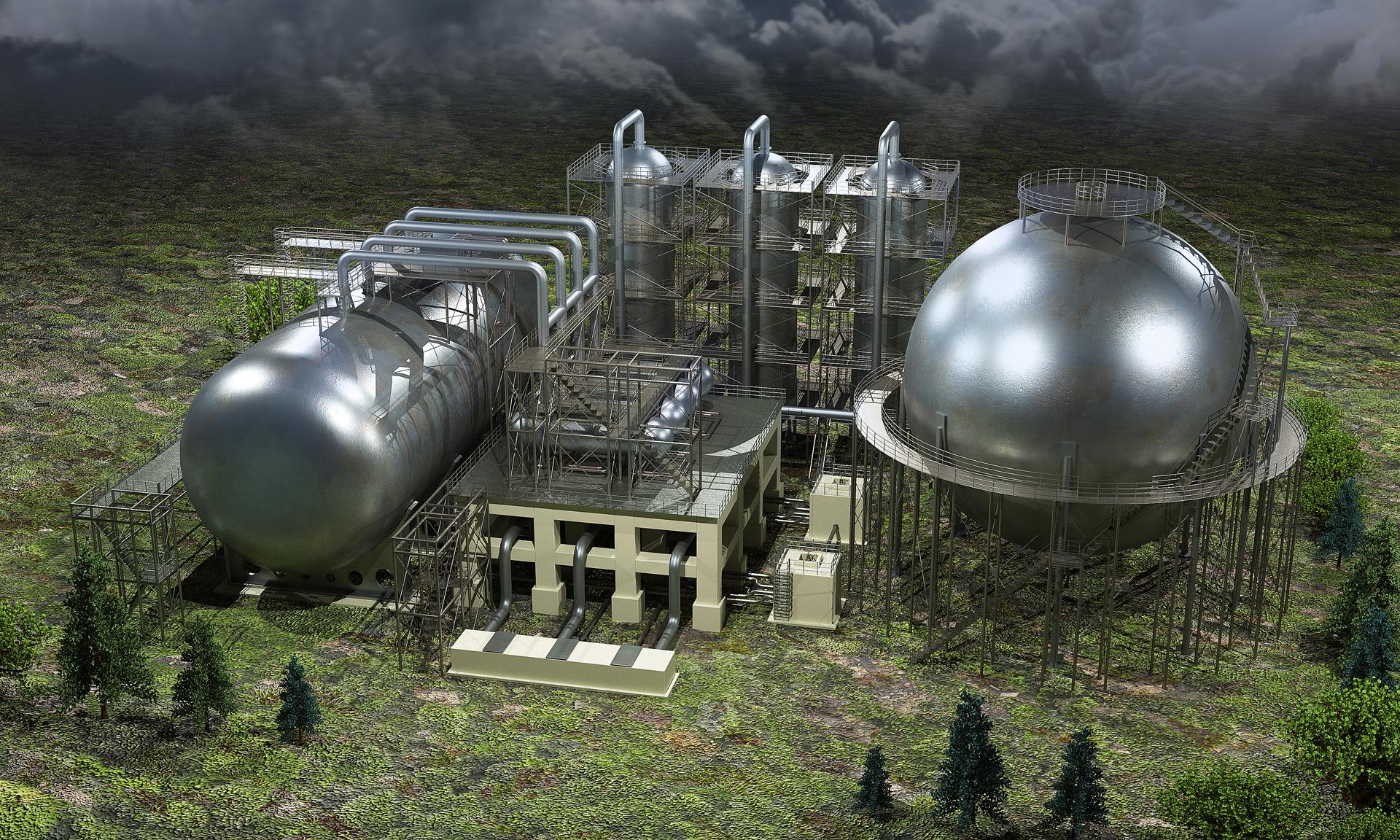 Завод по переработке и хранению нефтепродуктов_строение без БСК